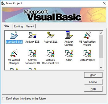 Active X project in Visual Basic.