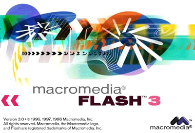 Macromedia Flash 3 Spalsh tile.