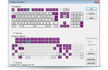 TTWin Keyboard mapping