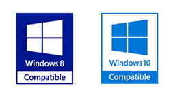 Windows 8 and Windows 10 compatible.